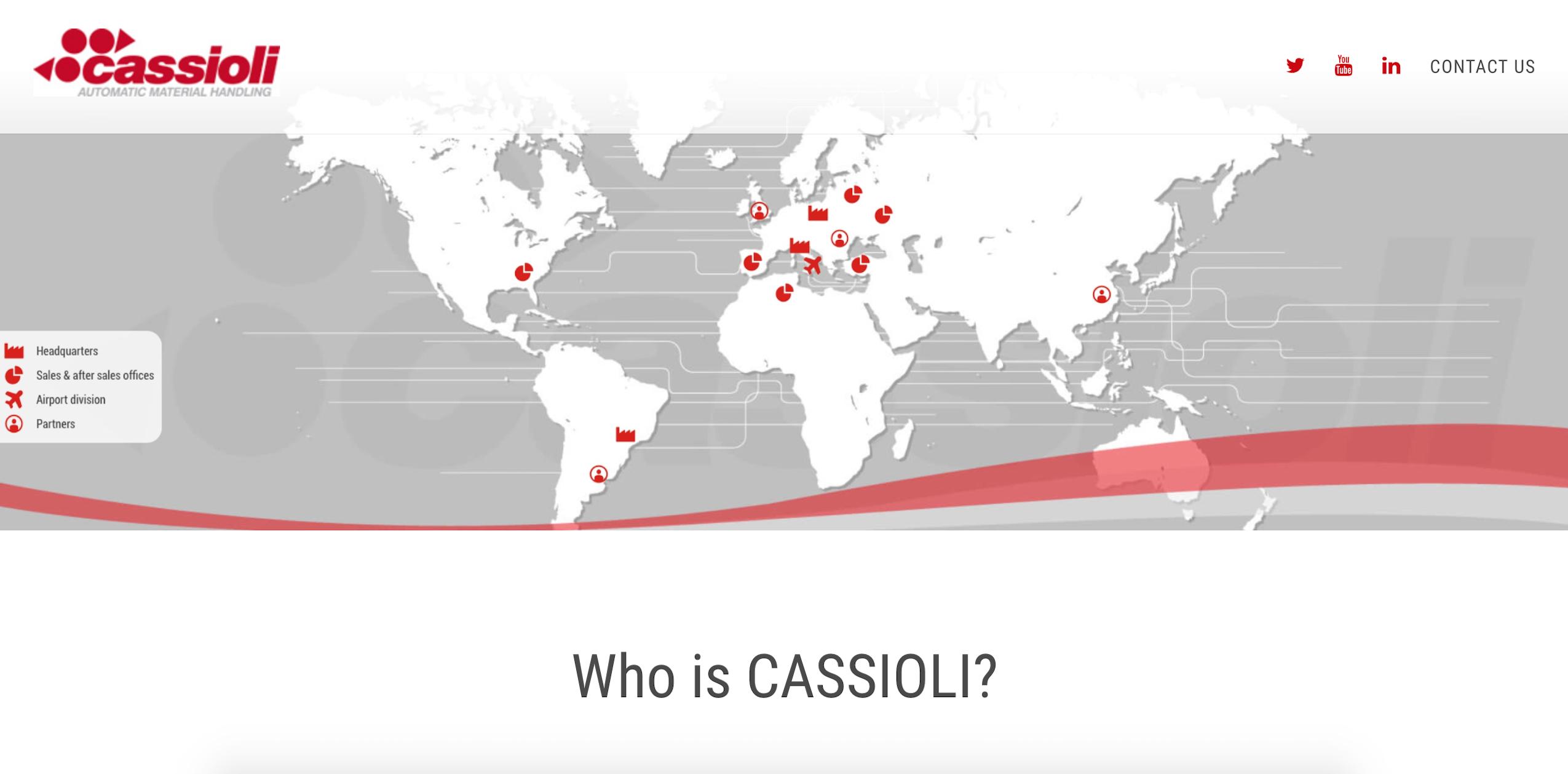Cassioli USA Landing Page