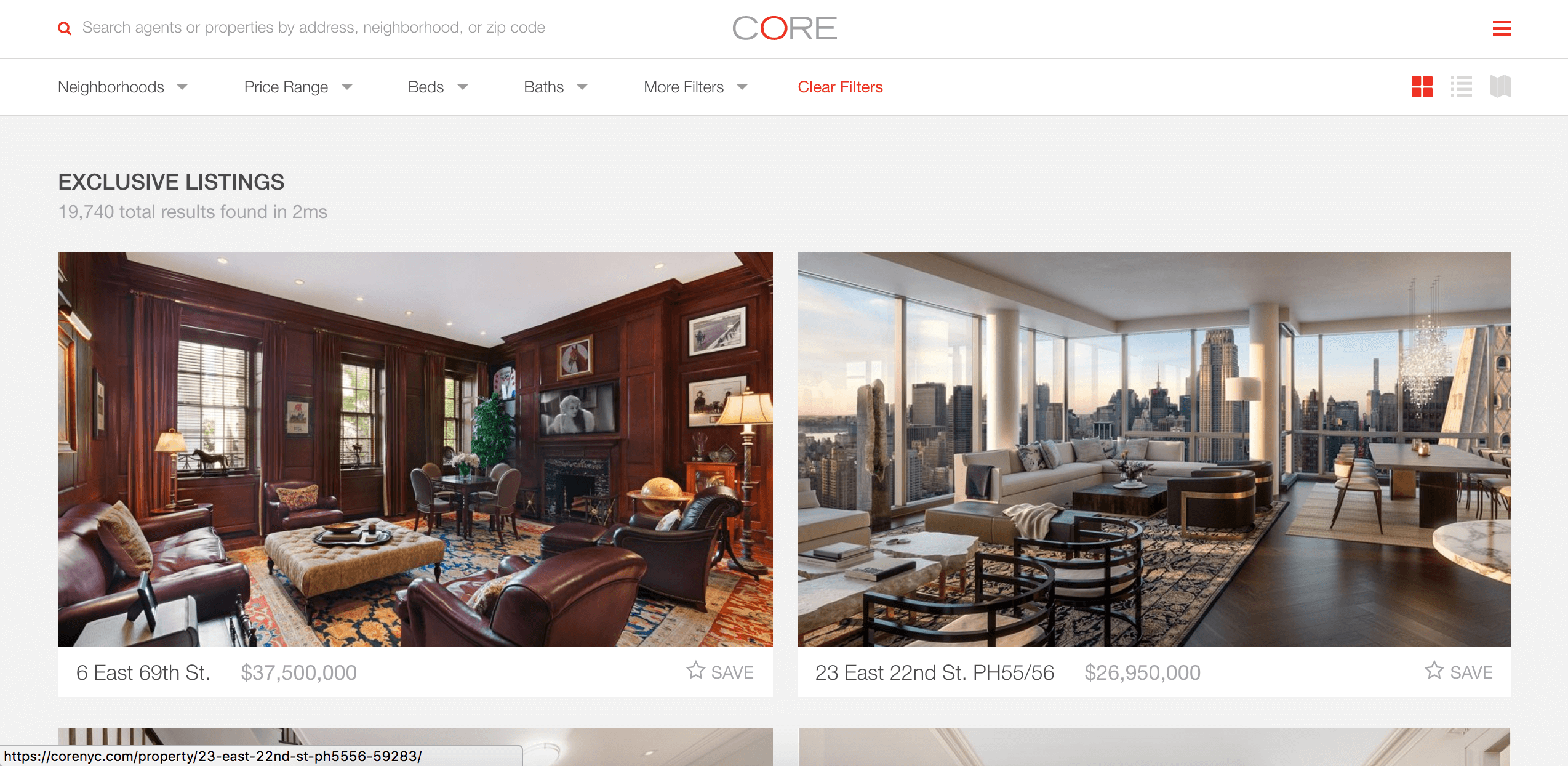 CORE Real Estate Website