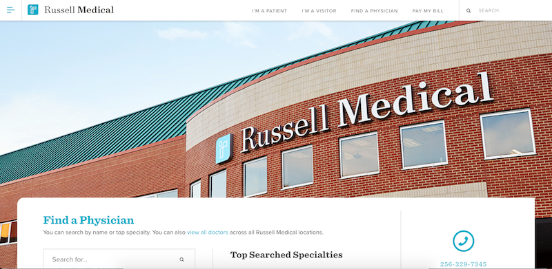 Russell Medical Center Website
