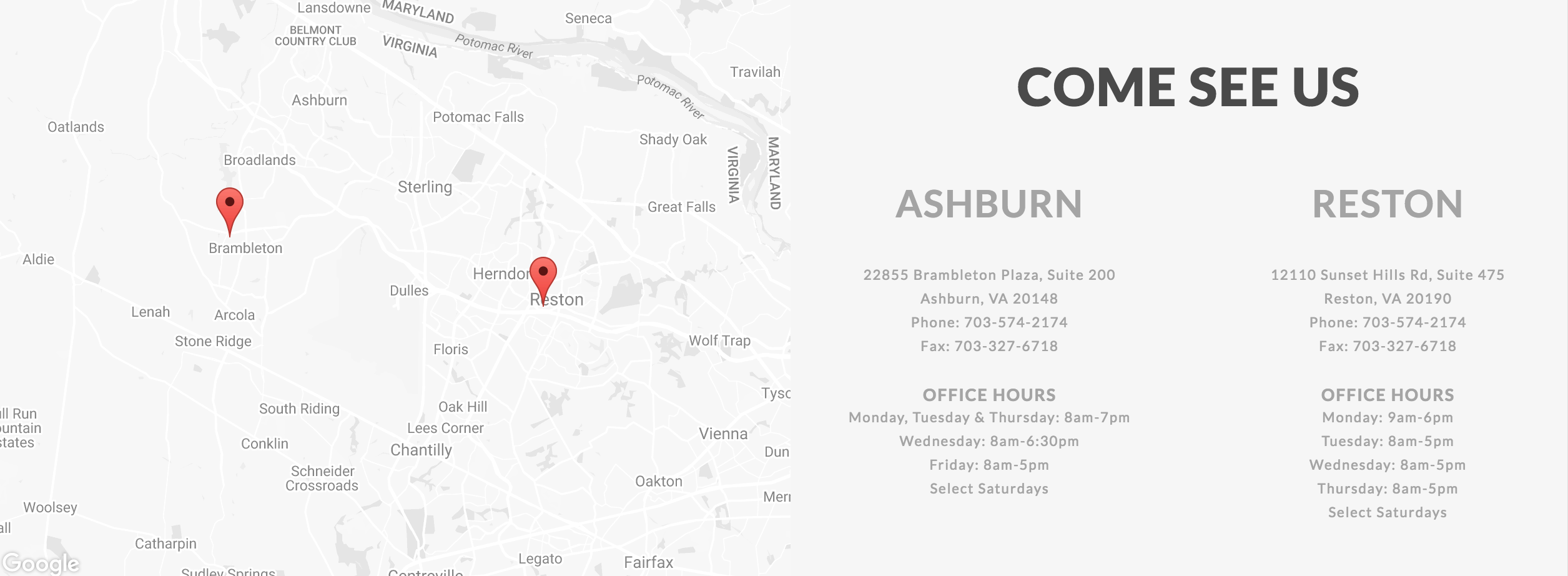 NVO Google Maps API Footer
