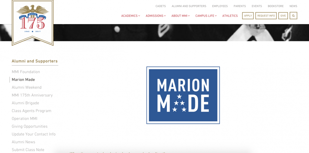 Marion Made Page - MMI