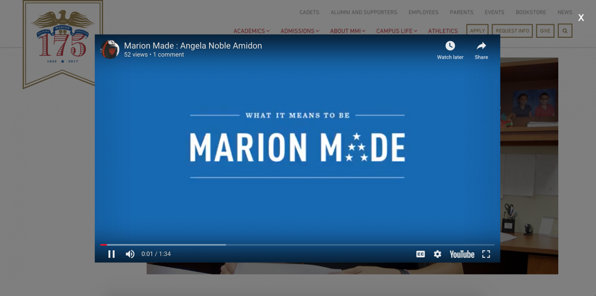 MMI Youtube Modal Example
